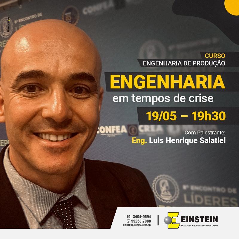 Palestra On line - Faculdade Einsten Limeira SP - Engenheiro Líder